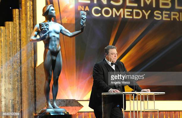 Actor John Goodman attends the 20th Annual Screen Actors Guild Awards at The Shrine Auditorium on January 18, 2014 in Los Angeles, California.