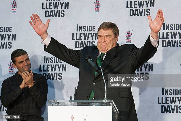 Actor John Goodman attends the hand and footprint ceremony honoring him at TCL Chinese Theatre on November 14 2013 in Hollywood California