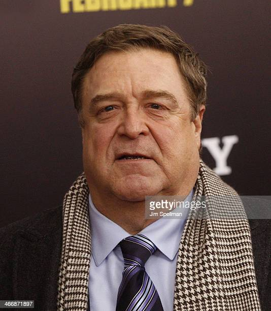 """Actor John Goodman attends """"The Monuments Men"""" premiere at Ziegfeld Theater on February 4, 2014 in New York City."""