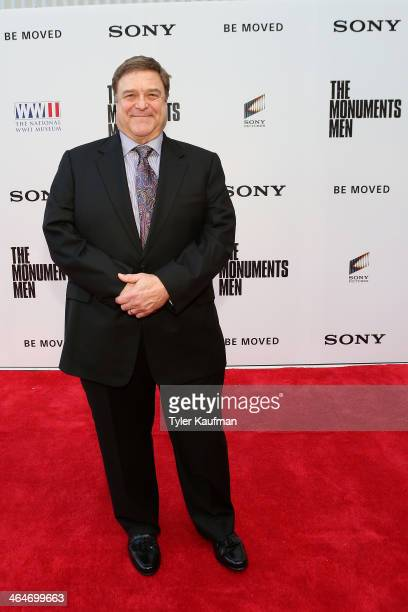 Actor John Goodman attends The Monuments Men special screening at The Victory Theater at The National WWII Museum on January 23, 2014 in New Orleans,...