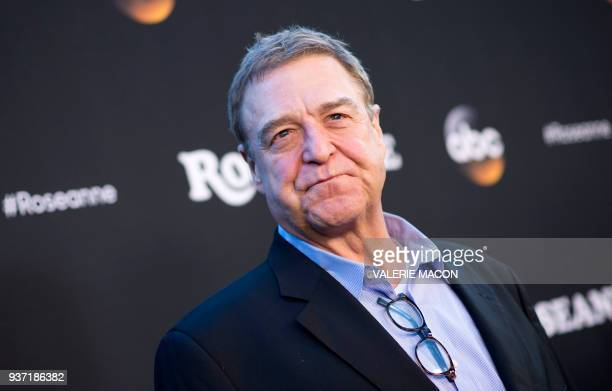Actor John Goodman attends The Roseanne Series Premiere at Walt Disney Studios on March 23 2018 in Burbank California / AFP PHOTO / VALERIE MACON
