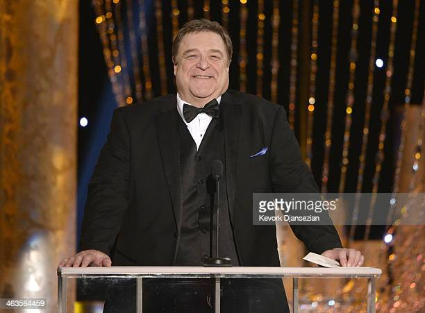Actor John Goodman speaks onstage during the 20th Annual Screen Actors Guild Awards at The Shrine Auditorium on January 18 2014 in Los Angeles...