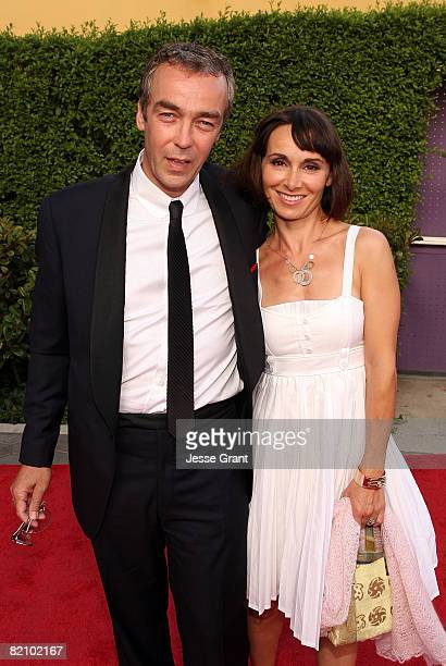 Actor John Hannah and Joanna Roth arrive at the American premiere of The Mummy Tomb Of The Dragon Emperor at the Gibson Amphitheatre on July 26 2008...