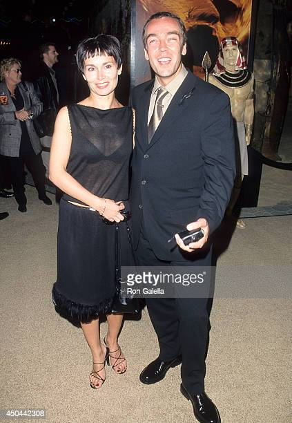 Actor John Hannah and wife Joanna Roth attend 'The Mummy' Universal City Premiere on May 4 1999 at Cineplex Odeon Universal City Cinemas in Universal...