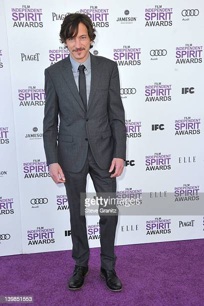 Actor John Hawkes arrives at the 2012 Film Independent Spirit Awards at Santa Monica Pier on February 25 2012 in Santa Monica California