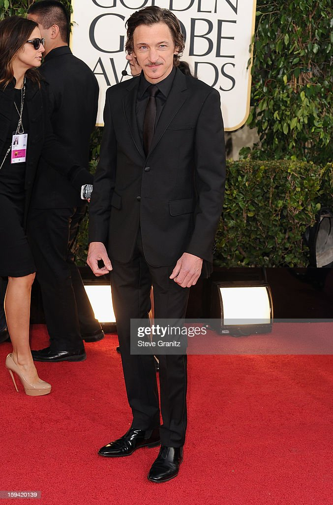 Actor John Hawkes arrives at the 70th Annual Golden Globe Awards held at The Beverly Hilton Hotel on January 13, 2013 in Beverly Hills, California.