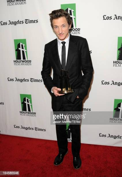 Actor John Hawkes poses with the Hollywood Breakout Performance Award during the 16th Annual Hollywood Film Awards Gala presented by The Los Angeles...