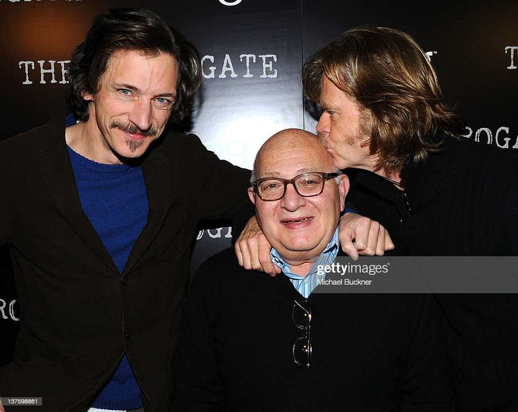 Actor John Hawkes, writer/director Ben Lewin and actor William H. Macy attend the official cast and filmmakers dinner for 'The Surrogate' Presented by Bing at Bing Bar on January 22, 2012 in Park City, Utah.