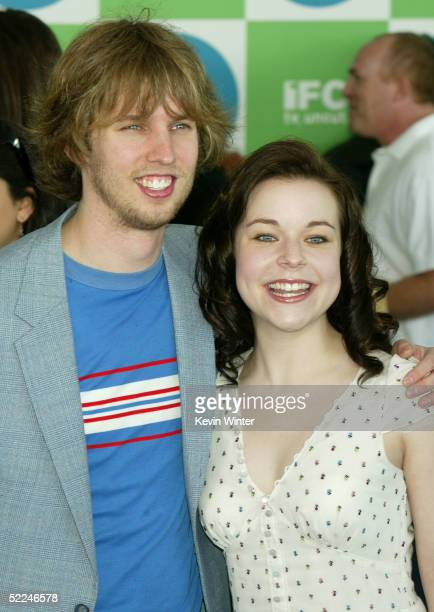 Actor John Heder and actress Tina Majorino arrives at the 20th IFP Independent Spirit Awards in a tent on the beach on February 26 2005 in Santa...