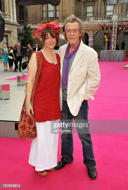 Actor John Hurt and Anwen Rees Meyers attend the Royal Academy Summer Exhibiton 2010 VIP preview at the Royal Academy of Arts on June 9 2010 in...