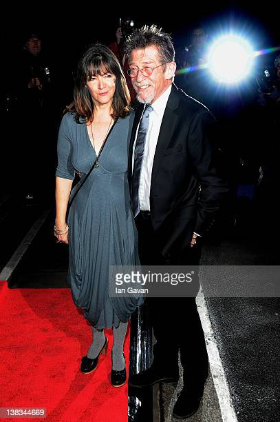 Actor John Hurt and Anwen Rees-Meyers attend the London Evening Standard British Film Awards 2012 at the London Film Museum on February 6, 2012 in...