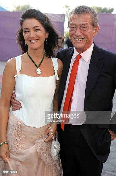 Actor John Hurt and wife Ann Rees Meyers arrive at the premiere of Skeleton Key at Universal Studios Cinema at Universal CityWalk on August 2 2005 in...