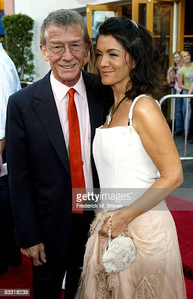 Actor John Hurt and wife Ann Rees Meyers arrive at the premiere of Skeleton Key at Universal Studios Cinema at Universal City Walk on August 2 2005...
