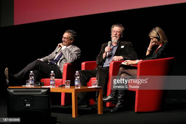 Actor John Hurt attends John Hurt Meets The Audience during the 8th Rome Film Festival at the Auditorium Parco Della Musica on November 9 2013 in...
