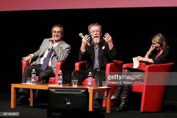 Actor John Hurt attends John Hurt Meets The Audience during the 8th Rome Film Festival at the Auditorium Parco Della Musica on November 9, 2013 in...