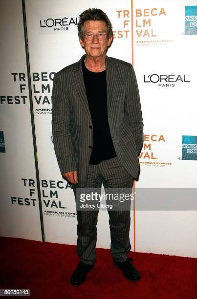 """Actor John Hurt attends the 8th Annual Tribeca Film Festival """"An Englishman In New York"""" premiere at BMCC Tribeca Performing Arts Center on April 27,..."""