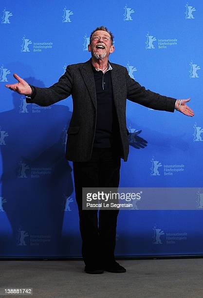 Actor John Hurt attends the 'Jayne Mansfield's Car' Photocall during day five of the 62nd Berlin International Film Festival at the Grand Hyatt on...