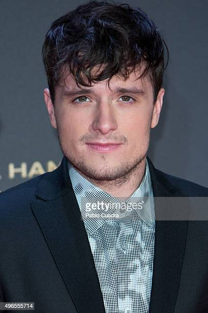 Actor John Hutcherson attends 'The Hunger Games Mockingjay Part 2' premiere at Kinepolis cinema on November 10 2015 in Madrid Spain