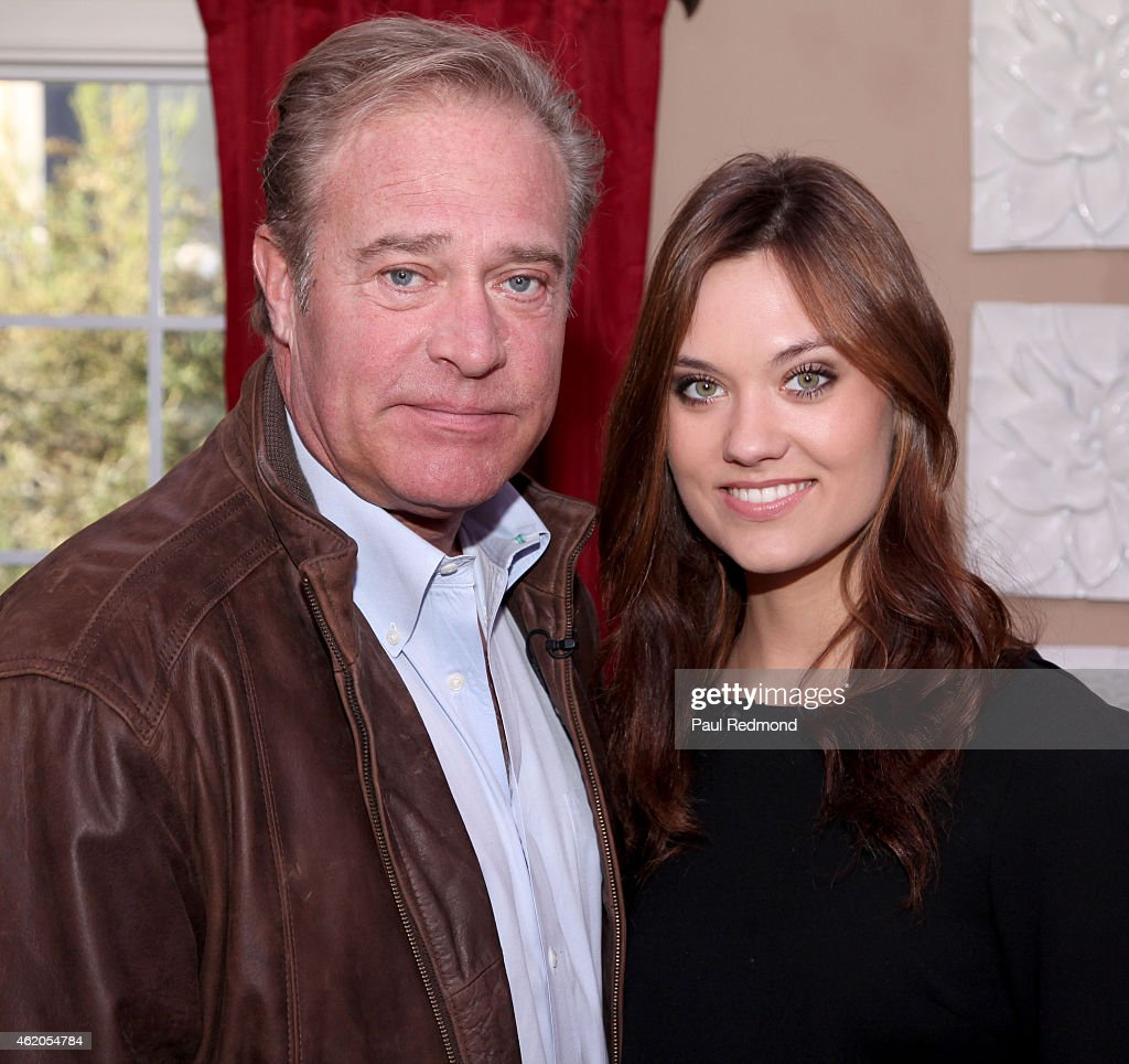 Actor John James and his daughter elevision personality/model Laura James photographed on the set of 'Dynasty' Reunion on 'Home & Family' at Universal Studios Backlot on January 23, 2015 in Universal City, California.