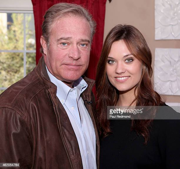 Actor John James and his daughter elevision personality/model Laura James photographed on the set of 'Dynasty' Reunion on 'Home Family' at Universal...