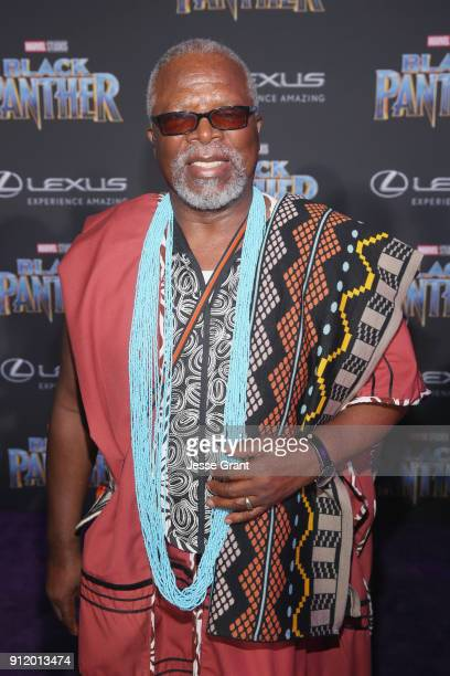 Actor John Kani at the Los Angeles World Premiere of Marvel Studios' BLACK PANTHER at Dolby Theatre on January 29 2018 in Hollywood California