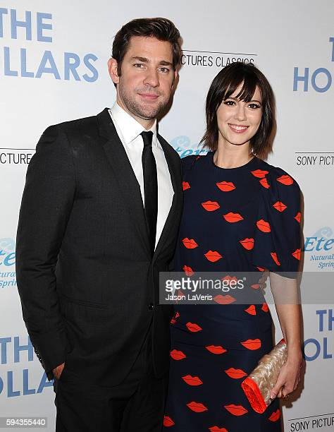 Actor John Krasinski and actress Mary Elizabeth Winstead attend the premiere of 'The Hollars' at Linwood Dunn Theater on August 22 2016 in Los...
