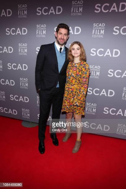 Actor John Krasinski and Millicent Simmonds attend the 21st SCAD Savannah Film Festival opening night on October 27, 2018 in Savannah, Georgia.