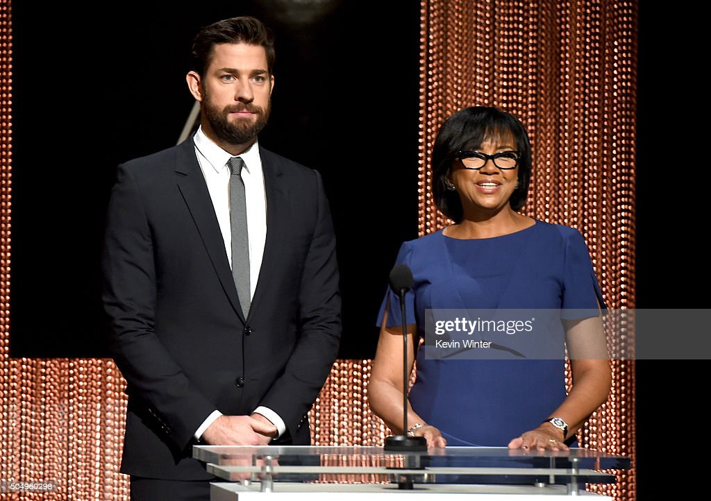 Actor John Krasinski (L) and President of the Academy of Motion Picture Arts and Sciences Cheryl Boone Isaacs announce the nominees during the 88th Oscars Nominations Announcement at the Academy of Motion Picture Arts and Sciences on January 14, 2016 in Los Angeles, California.