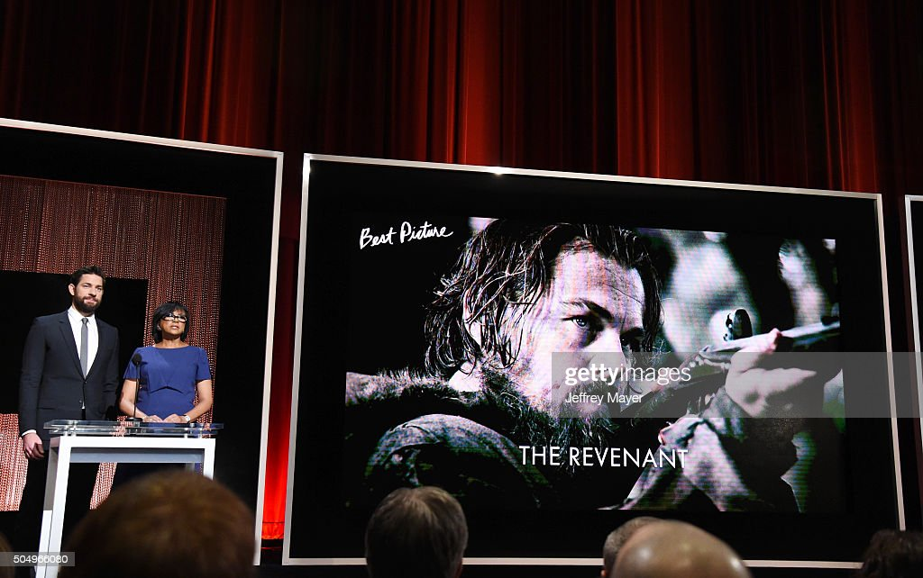 Actor John Krasinski (L) and President of the Academy of Motion Picture Arts and Sciences Cheryl Boone Isaac announce the nominees during the 88th Oscars Nominations Announcement at the Academy of Motion Picture Arts and Sciences on January 14, 2016 in Los Angeles, California.