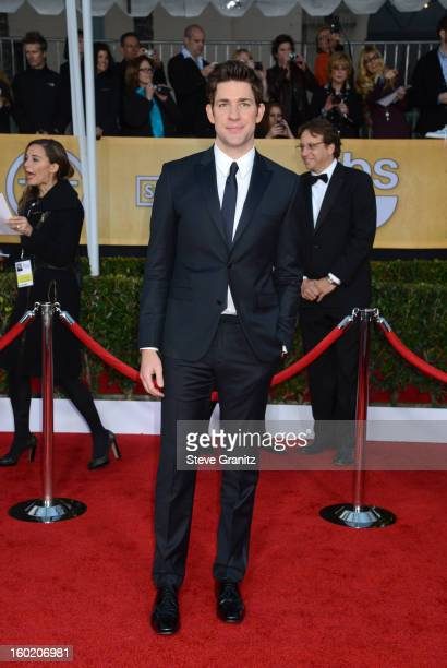 Actor John Krasinski arrives at the 19th Annual Screen Actors Guild Awards held at The Shrine Auditorium on January 27 2013 in Los Angeles California