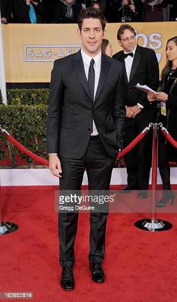 Actor John Krasinski arrives at the 19th Annual Screen Actors Guild Awards at The Shrine Auditorium on January 27 2013 in Los Angeles California