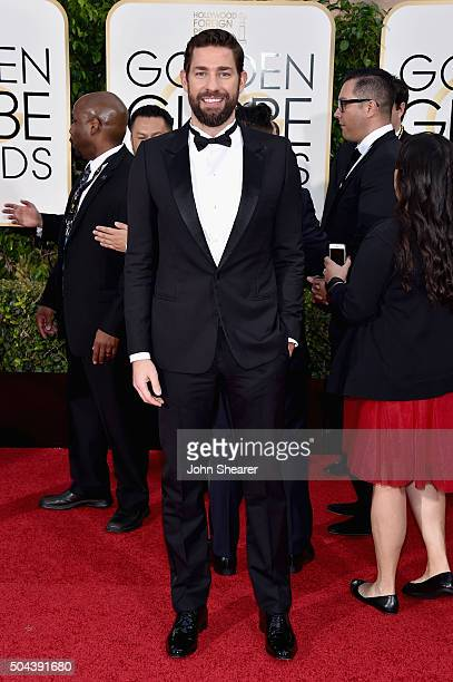 Actor John Krasinski attends the 73rd Annual Golden Globe Awards held at the Beverly Hilton Hotel on January 10 2016 in Beverly Hills California