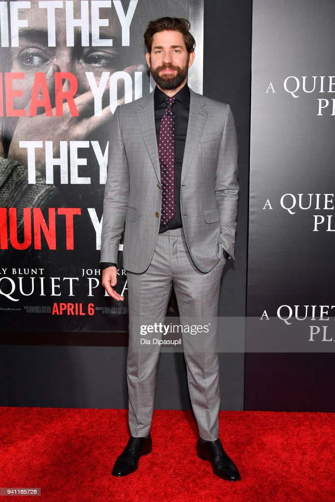 Actor John Krasinski attends the 'A Quiet Place' New York Premiere at AMC Lincoln Square Theater on April 2, 2018 in New York City.