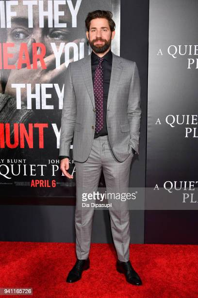 Actor John Krasinski attends the 'A Quiet Place' New York Premiere at AMC Lincoln Square Theater on April 2 2018 in New York City