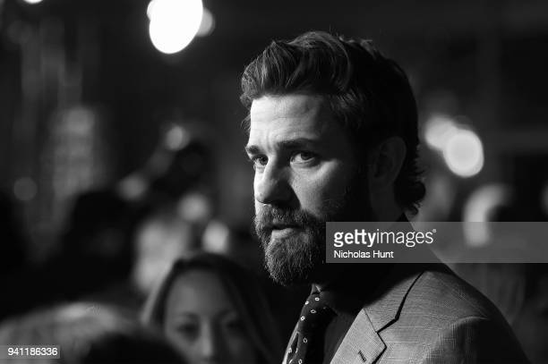 Actor John Krasinski attends the Paramount Pictures New York Premiere of A Quiet Place at AMC Lincoln Square theater on April 2 2018 in New York New...