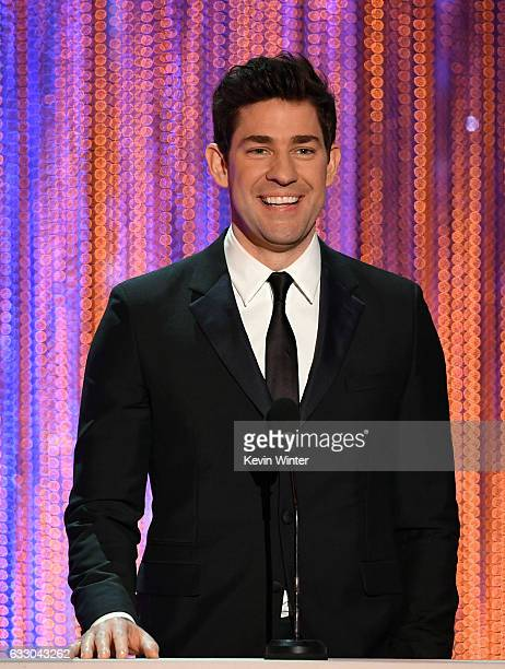 Actor John Krasinski speaks onstage during The 23rd Annual Screen Actors Guild Awards at The Shrine Auditorium on January 29 2017 in Los Angeles...