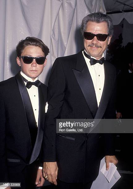 Actor John Larroquette and son Jonathan Larroquette attending 'All Star Pro Sports Gala' on June 25 1990 at the Universal Amphitheater in Universal...
