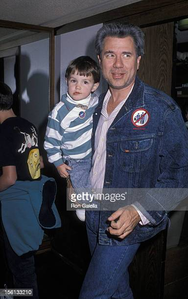 Actor John Larroquette and son Jonathan Larroquette attending the opening of 'Moscow Circus' on March 14 1990 at the Forum in Los Angeles California
