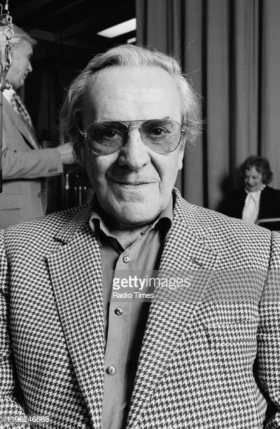 Actor John Le Mesurier for the BBC Radio 4 drama 'Appleby's End' 1982