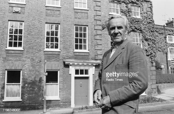 Actor John Le Mesurier in Bury St Edmunds Suffolk July 1973