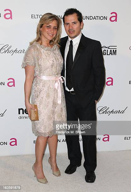 Actor John Leguizamo and Justine Maurer arrive at the 21st Annual Elton John AIDS Foundation's Oscar Viewing Party on February 24 2013 in Los Angeles...