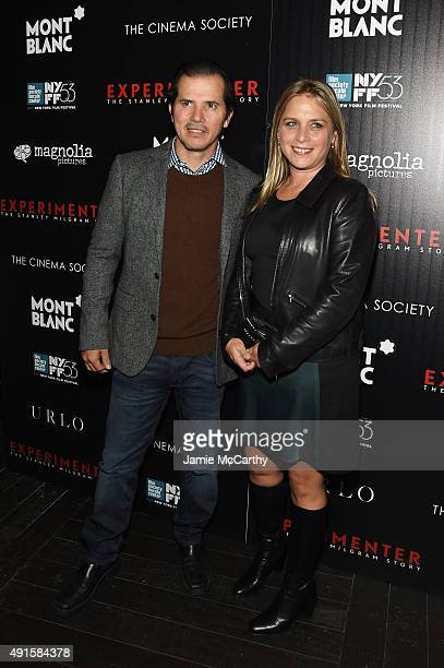 Actor John Leguizamo and Justine Maurer attend The New York Film Festival Premiere Of Magnolia Pictures' Experimenter hosted by Montblanc The Cinema...
