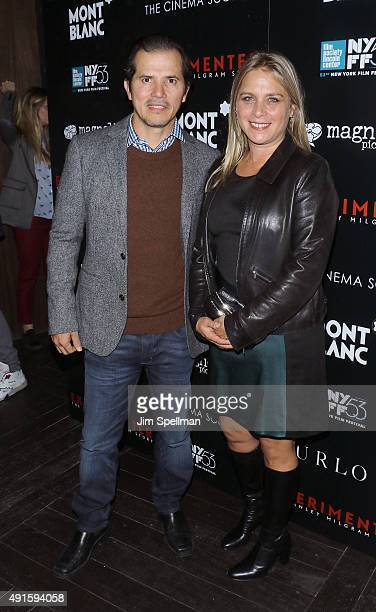 Actor John Leguizamo and wife Justine Maurer attend Montblanc The Cinema Society host a party for The New York Film Festival premiere of Magnolia...