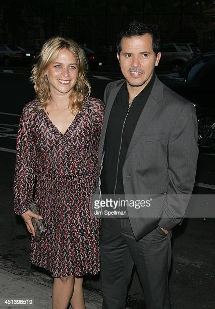 Actor John Leguizamo and wife Justine Maurer attend the Rage premiere at The Box on September 21 2009 in New York City