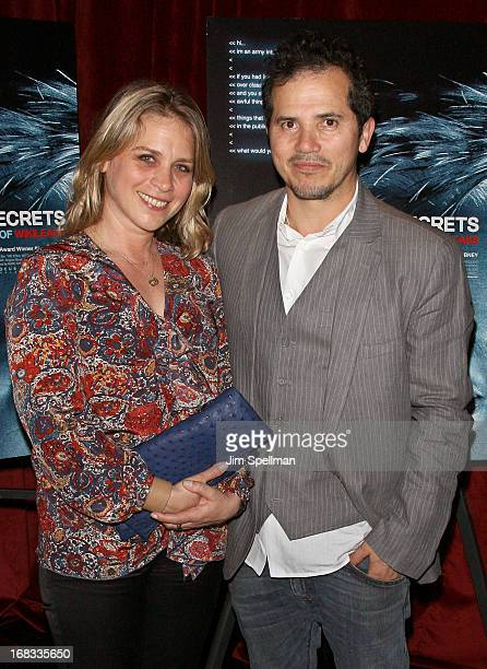 Actor John Leguizamo and wife Justine Maurer attends the We Steal Secrets The Story Of Wikileaks screening at Tribeca Grand Hotel Screening Room on...