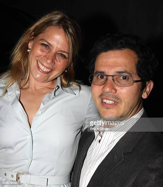 Actor John Leguizamo and wife Justine Maurer pose at the 2008 Fidelity FutureStage Students and Playwrights Presentation at New World Stages on June...