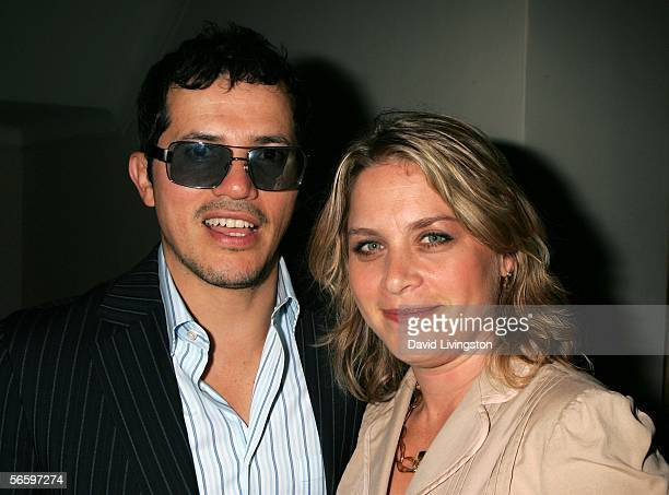 Actor John Leguizamo poses with his wife Justine attend HBO's Annual PreGolden Globe Reception at Chateau Marmont on January 14 2006 in Los Angeles...