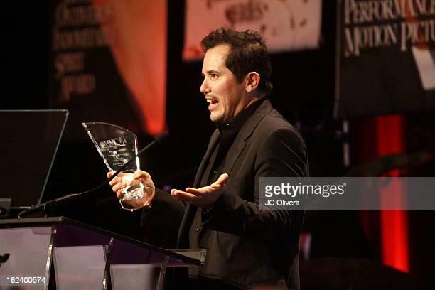 Actor John Leguizamo speaks at the National Hispanic Media Coalition's 16th Annual Impact Awards Gala at the Beverly Wilshire Four Seasons Hotel on...