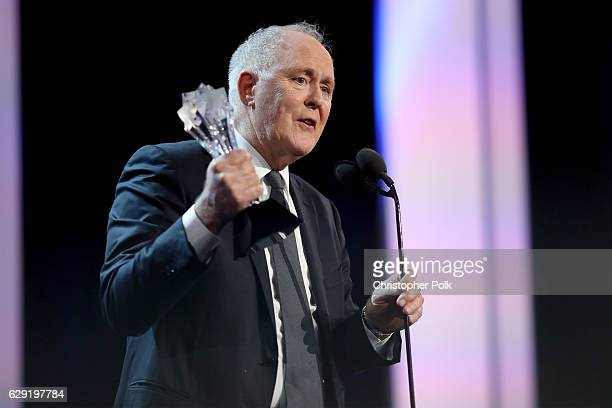 Actor John Lithgow accepts Best Supporting Actor in a Drama Series for 'The Crown' onstage during the The 22nd Annual Critics' Choice Awards at...