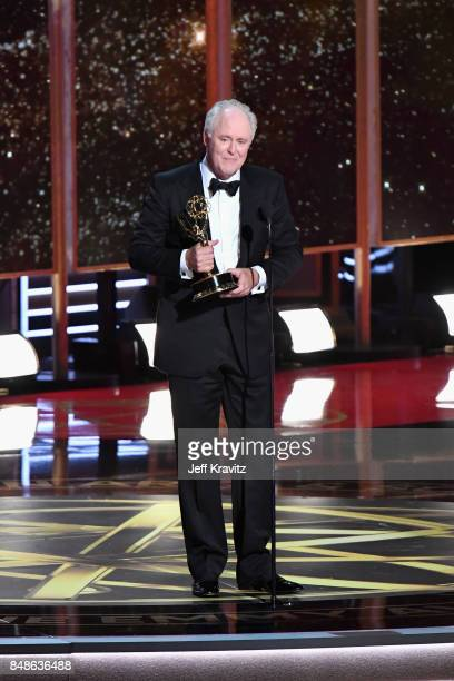 Actor John Lithgow accepts the Outstanding Supporting Actor in a Drama Series award for 'The Crown' onstage during the 69th Annual Primetime Emmy...